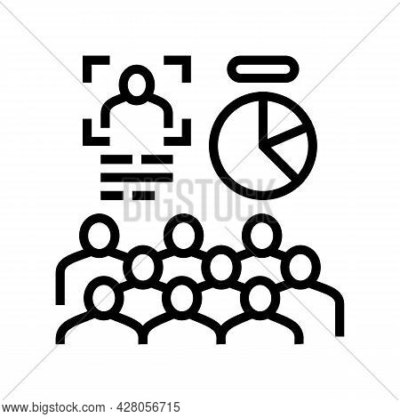 Advertising Creation Line Icon Vector. Advertising Creation Sign. Isolated Contour Symbol Black Illu