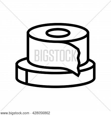Scotch Tape Resin Art Line Icon Vector. Scotch Tape Resin Art Sign. Isolated Contour Symbol Black Il
