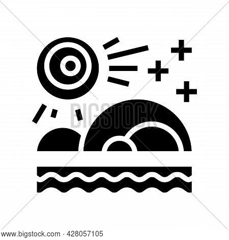 Nature Boho Glyph Icon Vector. Nature Boho Sign. Isolated Contour Symbol Black Illustration