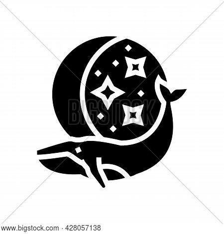 Whale Boho Glyph Icon Vector. Whale Boho Sign. Isolated Contour Symbol Black Illustration
