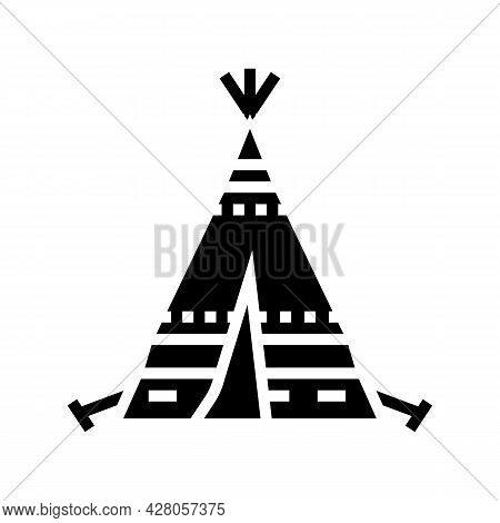 Tipi Tepee Boho Glyph Icon Vector. Tipi Tepee Boho Sign. Isolated Contour Symbol Black Illustration