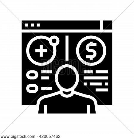 Opening Customer Accounts Glyph Icon Vector. Opening Customer Accounts Sign. Isolated Contour Symbol