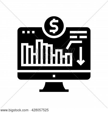Maintaining Minimum Required Account Balance Glyph Icon Vector. Maintaining Minimum Required Account