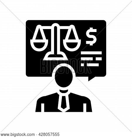 Advising Clients On Foreign Exchange Legislation Glyph Icon Vector. Advising Clients On Foreign Exch