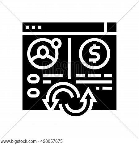 Money Transaction Glyph Icon Vector. Money Transaction Sign. Isolated Contour Symbol Black Illustrat