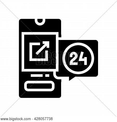 Storaging Digital File And Download Ephemeral Glyph Icon Vector. Storaging Digital File And Download