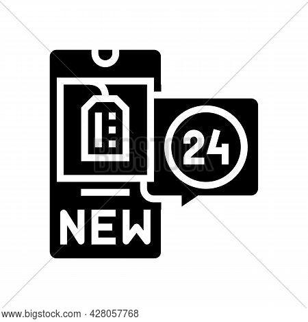 Discount Ephemeral Glyph Icon Vector. Discount Ephemeral Sign. Isolated Contour Symbol Black Illustr