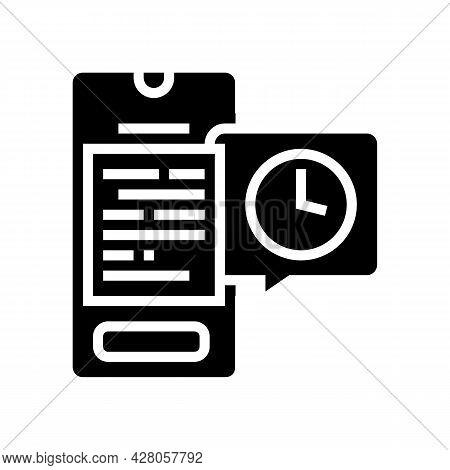 Digital Document Ephemeral Glyph Icon Vector. Digital Document Ephemeral Sign. Isolated Contour Symb