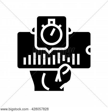 Music Ephemeral Glyph Icon Vector. Music Ephemeral Sign. Isolated Contour Symbol Black Illustration