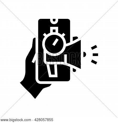 Advertising Ephemeral Glyph Icon Vector. Advertising Ephemeral Sign. Isolated Contour Symbol Black I