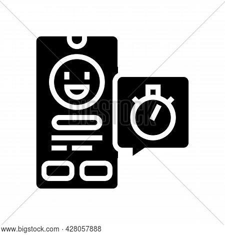 Emoji Offer Ephemeral Glyph Icon Vector. Emoji Offer Ephemeral Sign. Isolated Contour Symbol Black I