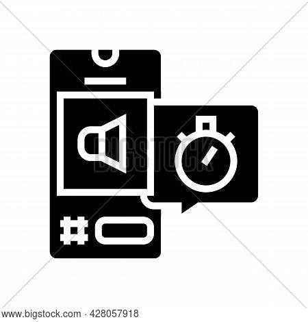 Digital Marketing Ephemeral Glyph Icon Vector. Digital Marketing Ephemeral Sign. Isolated Contour Sy