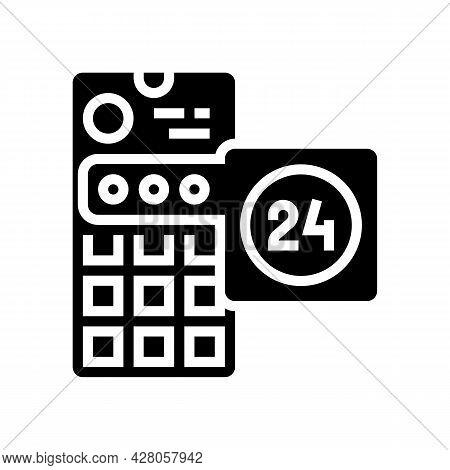 Social Media Story Ephemeral Glyph Icon Vector. Social Media Story Ephemeral Sign. Isolated Contour