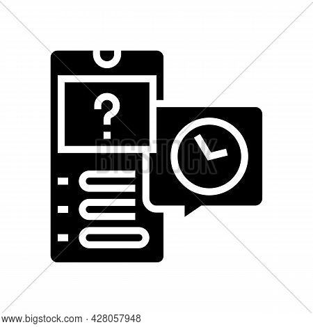 Quiz Ephemeral Glyph Icon Vector. Quiz Ephemeral Sign. Isolated Contour Symbol Black Illustration