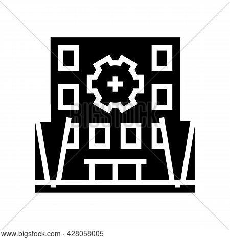 Building Multicolor Lighting Glyph Icon Vector. Building Multicolor Lighting Sign. Isolated Contour
