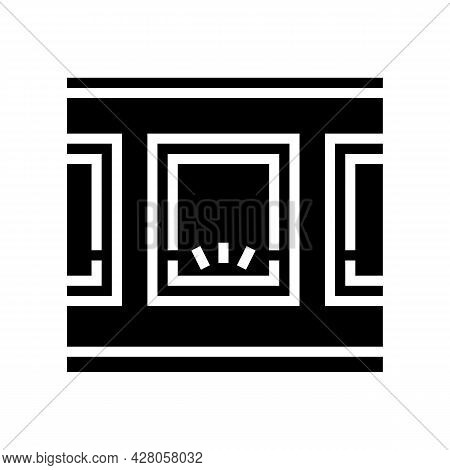 Windows Bottom Lighting Glyph Icon Vector. Windows Bottom Lighting Sign. Isolated Contour Symbol Bla