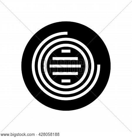 Led Lighting Glyph Icon Vector. Led Lighting Sign. Isolated Contour Symbol Black Illustration