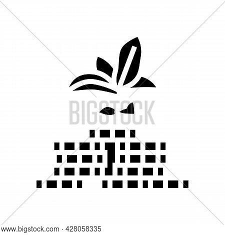 Green Economy Glyph Icon Vector. Green Economy Sign. Isolated Contour Symbol Black Illustration