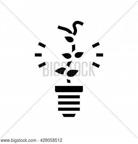 Alternative Energy Glyph Icon Vector. Alternative Energy Sign. Isolated Contour Symbol Black Illustr