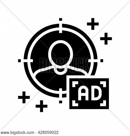 Sharp Targeting Glyph Icon Vector. Sharp Targeting Sign. Isolated Contour Symbol Black Illustration