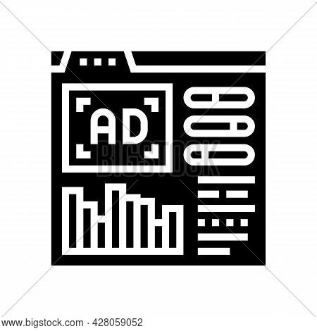 Google Analytics Integration Glyph Icon Vector. Google Analytics Integration Sign. Isolated Contour