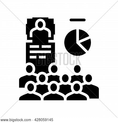 Advertising Creation Glyph Icon Vector. Advertising Creation Sign. Isolated Contour Symbol Black Ill