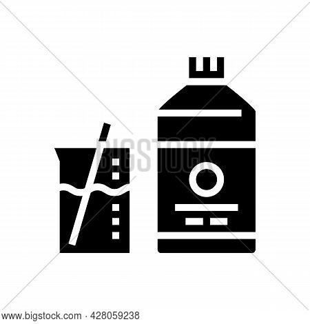 Mixing Liquid For Resin Art Glyph Icon Vector. Mixing Liquid For Resin Art Sign. Isolated Contour Sy