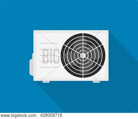 Ac Vector Icon. Air Conditioner Split Temperature Wall Logo Cooling Icon