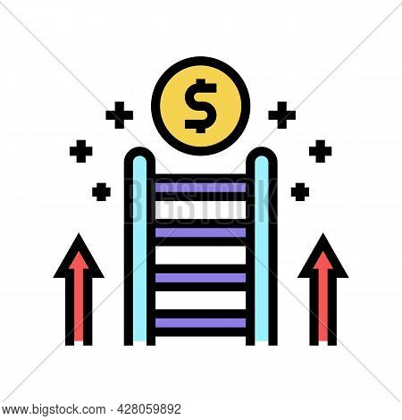 Career Ladder Color Icon Vector. Career Ladder Sign. Isolated Symbol Illustration