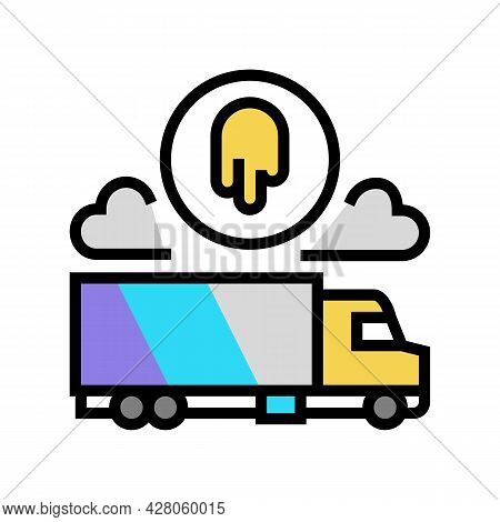 Truck Painting Services Color Icon Vector. Truck Painting Services Sign. Isolated Symbol Illustratio