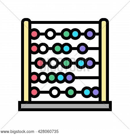 Abacus Kindergarten Color Icon Vector. Abacus Kindergarten Sign. Isolated Symbol Illustration