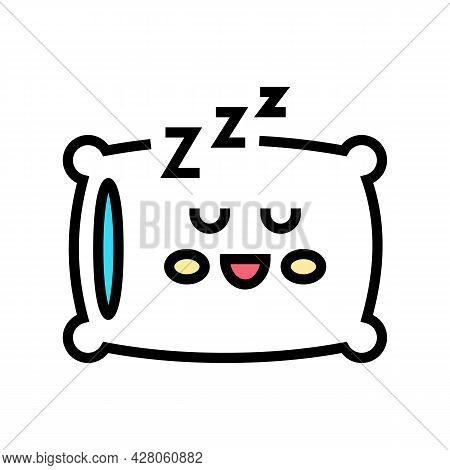 Sleeping Time Kindergarten Color Icon Vector. Sleeping Time Kindergarten Sign. Isolated Symbol Illus