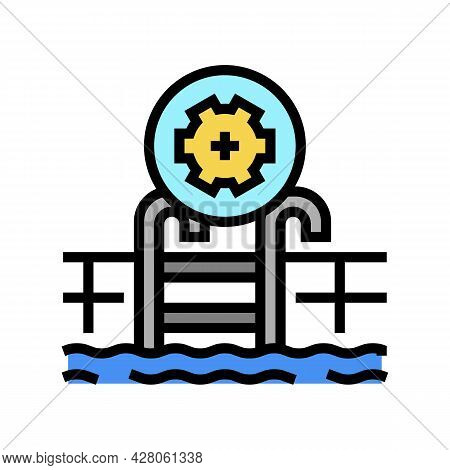 Commercial Pool Services Color Icon Vector. Commercial Pool Services Sign. Isolated Symbol Illustrat