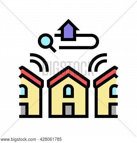 Neighborhood In Area Color Icon Vector. Neighborhood In Area Sign. Isolated Symbol Illustration