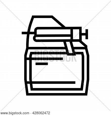 First Coat Primer Line Icon Vector. First Coat Primer Sign. Isolated Contour Symbol Black Illustrati