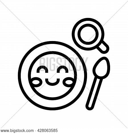 Lunch Dish Kindergarten Line Icon Vector. Lunch Dish Kindergarten Sign. Isolated Contour Symbol Blac