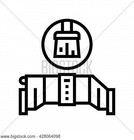 Salt Cell Maintenance Line Icon Vector. Salt Cell Maintenance Sign. Isolated Contour Symbol Black Il