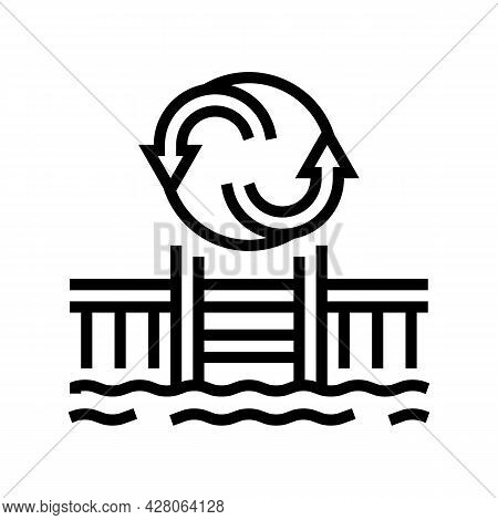 Pool Remodeling Services Line Icon Vector. Pool Remodeling Services Sign. Isolated Contour Symbol Bl