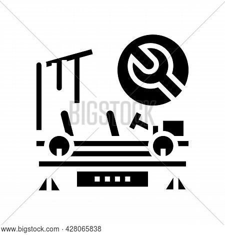 Paintless Dent Repair Glyph Icon Vector. Paintless Dent Repair Sign. Isolated Contour Symbol Black I