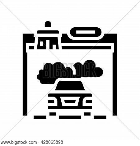 Car Painting Services Glyph Icon Vector. Car Painting Services Sign. Isolated Contour Symbol Black I