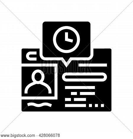 Renewal Driver License Id Card Glyph Icon Vector. Renewal Driver License Id Card Sign. Isolated Cont
