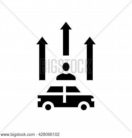 Mature Driver Improvement Course Glyph Icon Vector. Mature Driver Improvement Course Sign. Isolated