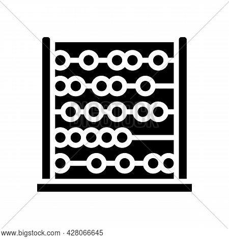 Abacus Kindergarten Glyph Icon Vector. Abacus Kindergarten Sign. Isolated Contour Symbol Black Illus