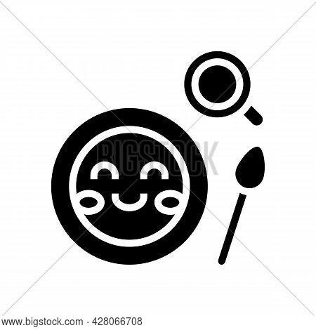 Lunch Dish Kindergarten Glyph Icon Vector. Lunch Dish Kindergarten Sign. Isolated Contour Symbol Bla