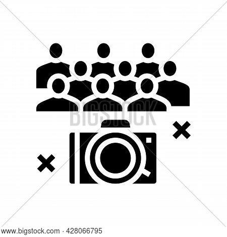 Collective Photography Kindergarten Glyph Icon Vector. Collective Photography Kindergarten Sign. Iso