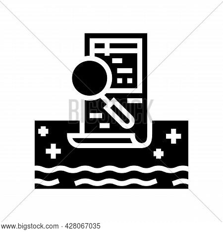 Pool Inspection Services Glyph Icon Vector. Pool Inspection Services Sign. Isolated Contour Symbol B