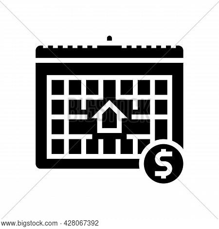 Monthly Fee Glyph Icon Vector. Monthly Fee Sign. Isolated Contour Symbol Black Illustration