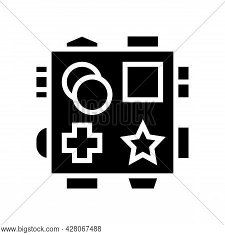 Early Learning Toys Glyph Icon Vector. Early Learning Toys Sign. Isolated Contour Symbol Black Illus