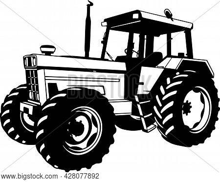Tractor - Farm Tractor, Farming Vehicle - Farm Silhouette