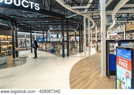 Duty Free Shop Of The New Terminal Of Thessaloniki International Airport